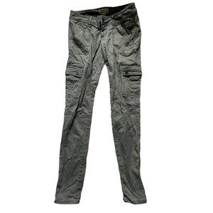 Hollister Size One Green Cargo Pants Zippered Acce